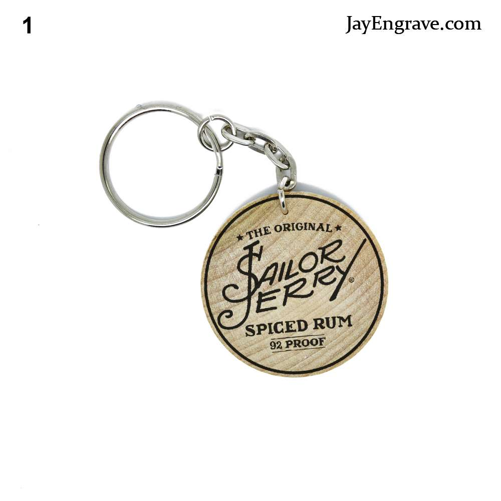 Sailor Jerry Spiced Rum Engraved Keyring Keychain