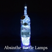 Absinthe Bottle Lamps