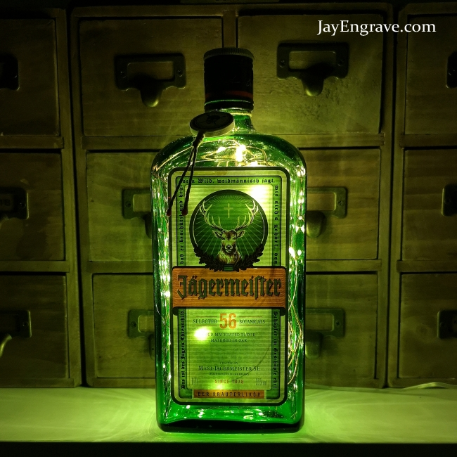 Light Upcycled LED Battery USB 700ml Bottle Jagermeister Lamp Powered or qUGSpzMV