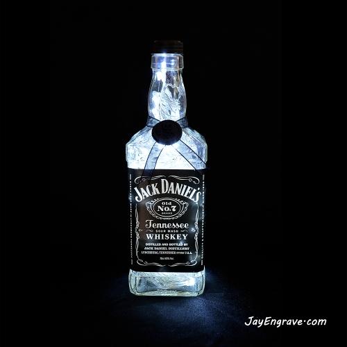 Jack Daniels Upcycled LED Bottle Lamp