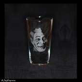 Morgan Freeman (Hand Engraved Pint Glass)