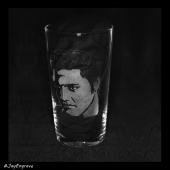 Elvis Presley (Engraved Glass)