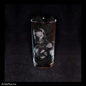 Ironman (Engraved Glass)