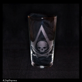 Assassins Creed - Black Flag (Engraved Glass)