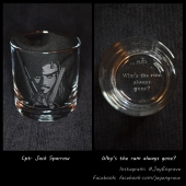 Johnny Depp - Jack Sparrow (Engraved Glass)