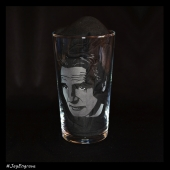 Liam Neeson (Hand Engraved Pint Glass)