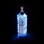 Bombay Sapphire London Gin Bottle LED Lamp