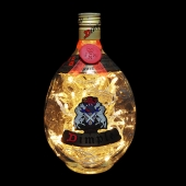 Dimple 12 Years Old Scotch Whisky Whiskey Upcycled LED Bottle Lamp Light