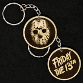 Jason Voorhees Friday The 13th Hand Made Engraved Wood Keyring Keychain