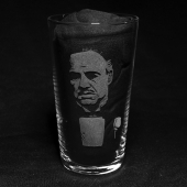 Don Vito Corleone - The Godfather (Hand Engraved Pint Glass)
