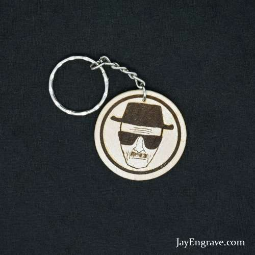 Heisenberg - I Am The Danger - Breaking Bad - Engraved Wood Keyring Keychain