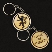 Game Of Thrones House Lannister Hand Made Engraved Wood Keyring Keychain