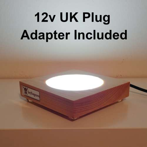 JayEngrave Illuminated LED Display Base Stand and 12v Adapter (UK Only)