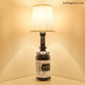 Kraken Inky Black Spiced Rum Upcycled Bottle Table Lamp by JayEngrave