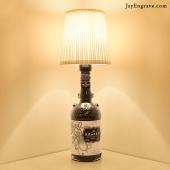 Kraken Inky Black Spiced Rum Upcycled Bottle Table Lamp by JayEngrave