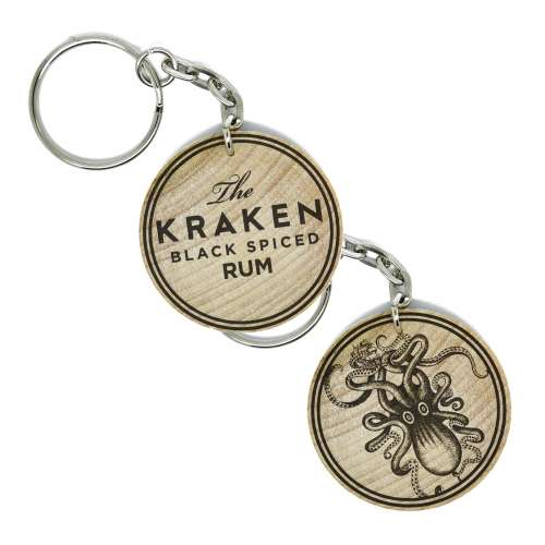 The Kraken Spiced Rum Double Sided Keyring Keychain