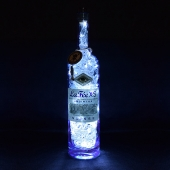 La Fee XS Suisse Absinthe 70cl Upcycled 80 LED Bottle Lamp Light