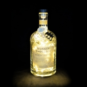 Monkey Shoulder Whisky Whiskey 1L Upcycled 80 LED Bottle Lamp Light