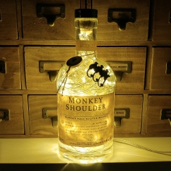 Monkey Shoulder Whisky Whiskey 80 LED Upcycled 750ml Bottle Lamp Light