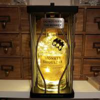 Monkey Shoulder Whisky Whiskey Limited Edition 700ml Cage Edition LED Bottle Lamp Light