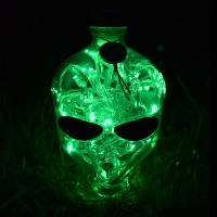 Outerspace Vodka Alien Head LED Bottle Lamp