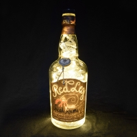 Red Leg Spiced Rum 70CL Upcycled LED Bottle lamp