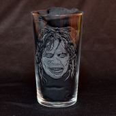 Regan MacNeil aka Demon Pazuzu - The Exorcist (Hand Engraved Pint Glass)