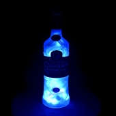 Russian Standard Vodka Upcycled Blue LED Bottle Lamp Light