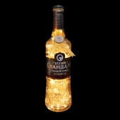 Russian Standard Gold Vodka Upcycled Bottle LED Lamp Light