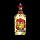 Sierra Tequila Silver Upcyced LED Bottle Lamp Light