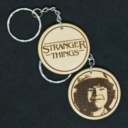 Dustin Toothless - Stranger Things Engraved Wood Keyring