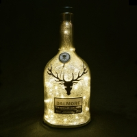 The Dalmore The Distillery Exclusive Whisky Silver Mercury Effect LED Bottle Lamp Light
