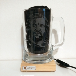 Rory McCann as Sandor Clegane aka The Hound Game Of Thrones Hand Engraved Glass Tankard