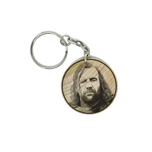 Sandor Clegane aka The Hound Game Of Thrones Hand Made Engraved Wood Keyring Keychain